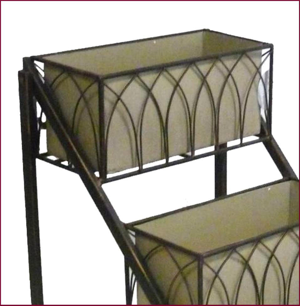 jardiniere porte plante fleur a etage etagere escalier escabeau de jardin en fer ebay. Black Bedroom Furniture Sets. Home Design Ideas