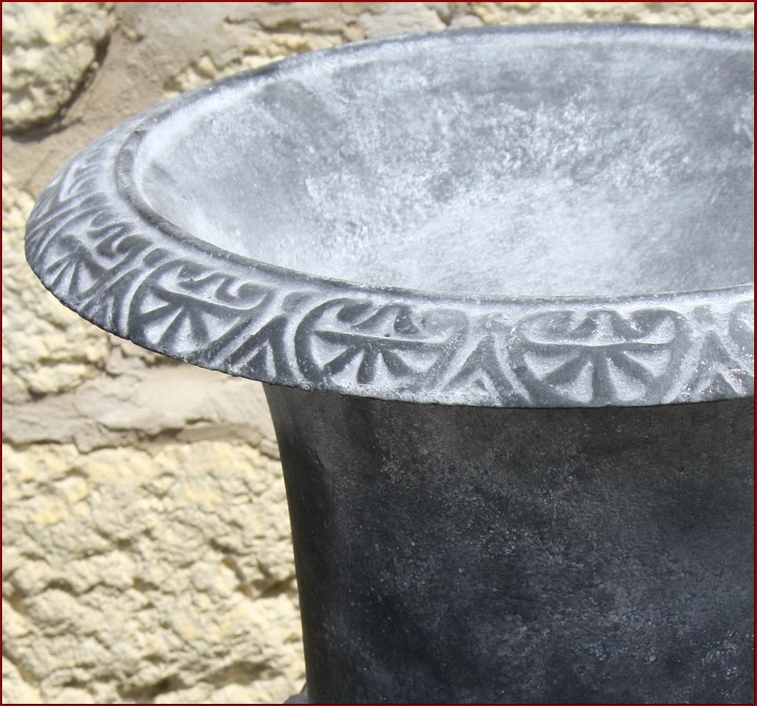 Vase vasque medicis cache pot jardiniere en fonte plante fleur 54cm ebay for Jardiniere vasque jardin