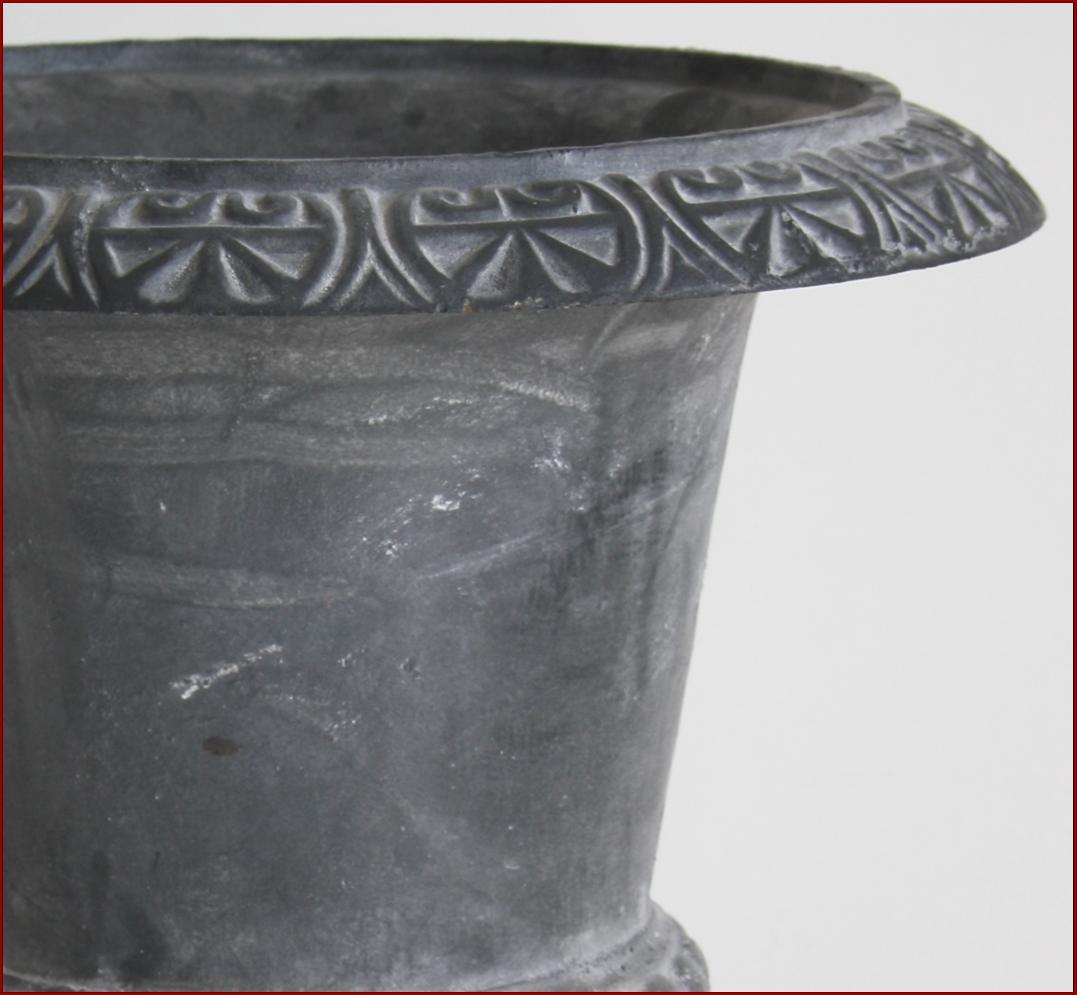 Style Ancienne Vasque Pot Jardiniere Chambord Fonte De Pilier Colonne 44cm Gris Ebay