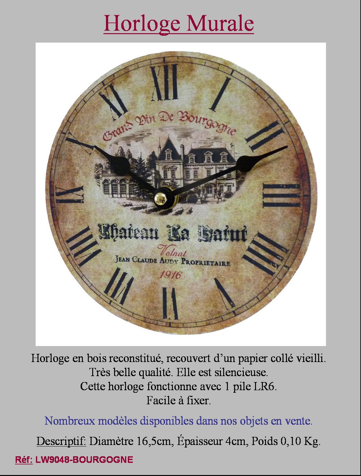 style ancienne petite horloge decoration murale cadre bois papier tableau murale ebay. Black Bedroom Furniture Sets. Home Design Ideas