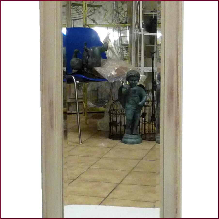 Grand miroir mural style trumeau en bois de chambre salon for Grand miroir mural salon