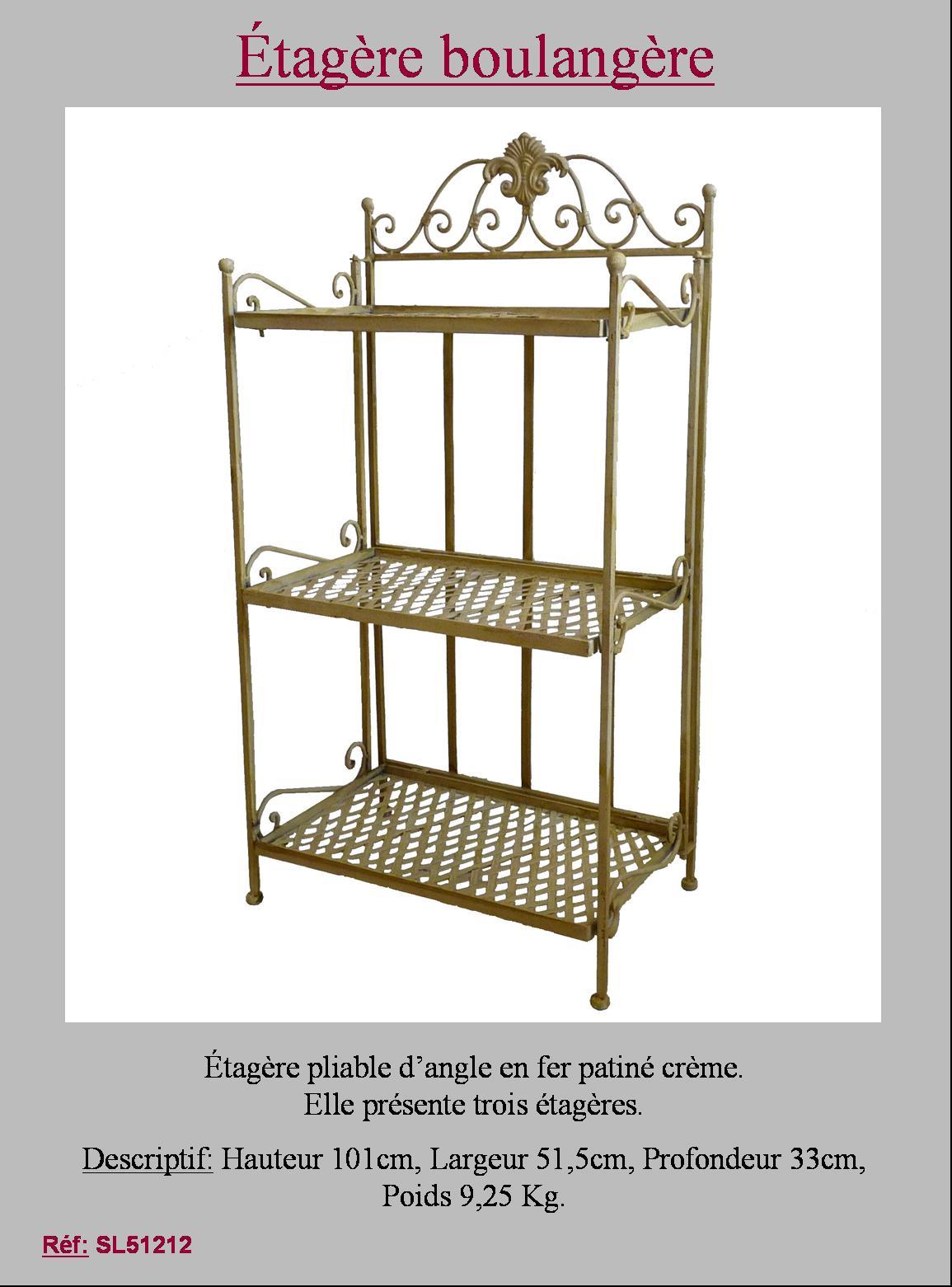 style ancienne tag re boulang re de salon cuisine salle de bain en fer 101cm ebay. Black Bedroom Furniture Sets. Home Design Ideas